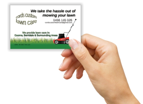 Cords Custom Lawn Care Business Card
